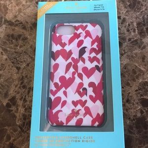 Kate spade iPhone 6, 6s, and 7 case with hearts